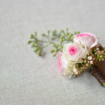 Boutonnière homme mariage mini Eden - Reflets Fleurs