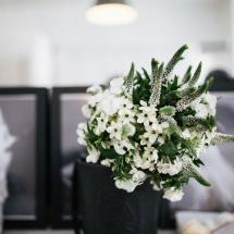 Mariage bouquets de mariée champêtre blanc et vert - Reflets Fleurs