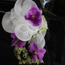 Mariage décoration de la portière de voiture - Reflets Fleurs