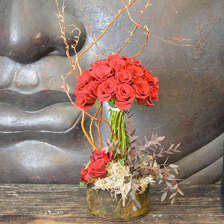 arbre de roses rouges pour la saint valentin