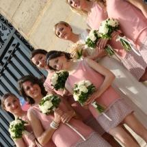 Bouquet demoiselle d'honneur blanc et vert - Reflets Fleurs mariage