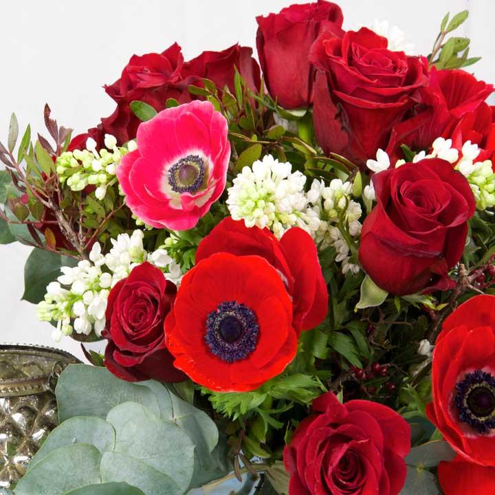 Fleurs rouges saint valentin for Bouquet de fleurs rose rouge