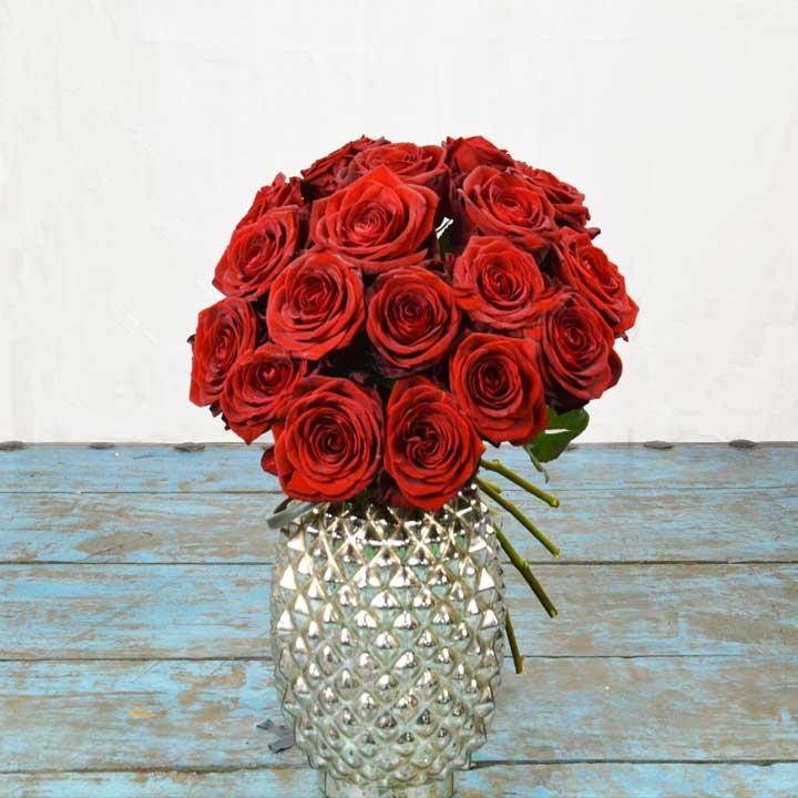 Bouquet de fleurs de rose rouge Red Naomie Reflets fleurs