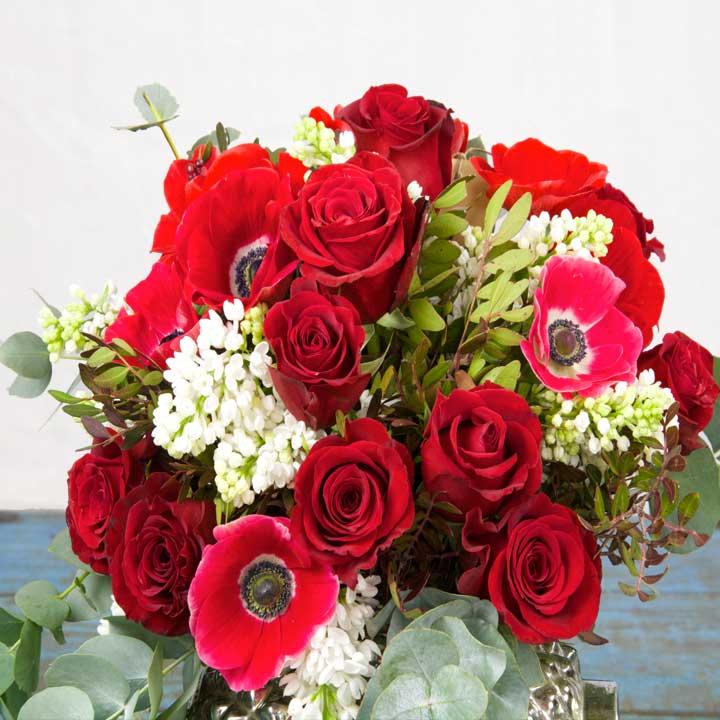 Bouquet de fleurs rose rouge - Bouquet de rose saint valentin ...