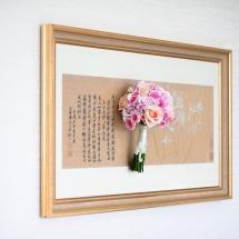 Bouquet mariée blanc rose peche mini Eden - Reflets Fleurs mariage