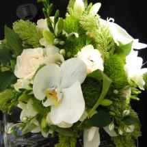 Bouquet mariée blanc vert orchidée mariage Reflets Fleurs