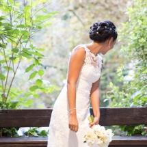 Bouquet mariée blanc vert orchidée rose mariage - Reflets Fleurs
