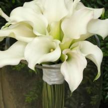 Bouquet mariée callas blanc Reflets Fleurs mariage