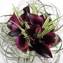 Bouquet mariée callas bordeaux - Reflets Fleurs mariage