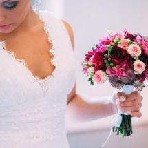 Bouquet de mariée camaieu rose Reflets Fleurs mini Eden mariage