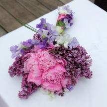 Bouquet de mariée mauve rose pivoines lilas moderne champêtre - Reflets Fleurs mariage