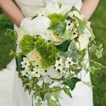 Bouquet mariée Reflets Fleurs mariage blanc vert