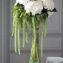Buffet cocktail hortensia blanc mariage - Reflets Fleurs