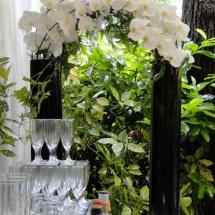 Buffet pont orchidée - Reflets Fleurs mariage