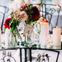 Centre table champêtre - Reflets Fleurs mariage