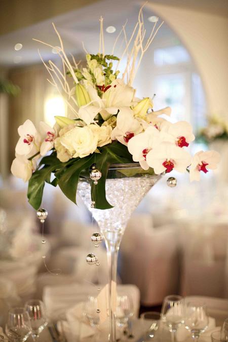 Centre De Table Mariage Fleurs Blanches