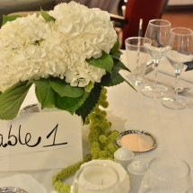 Centre de table hortensia - Reflets Fleurs mariage