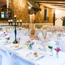 Centre de table long mariage - Reflets Fleurs
