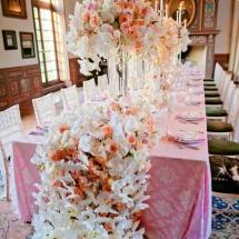 Centre de table luxe orchidée - Reflets Fleurs mariage