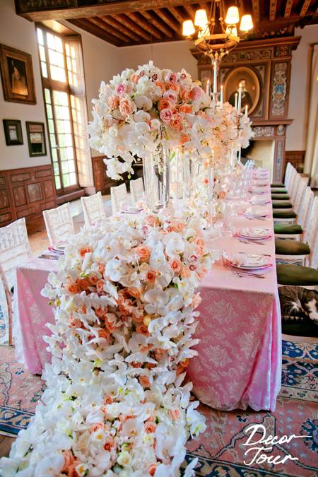 R ception reflets fleursreflets fleurs for Art de la table de luxe