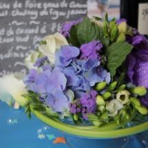 Centre table mauve - Reflets Fleurs mariage