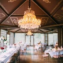 Centre table moderne champêtre mariage - Reflets Fleurs