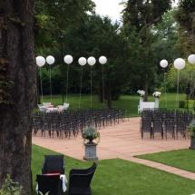 Cérémonie extérieur hortensia - Reflets Fleurs mariage