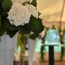 Cérémonie hortensia blanc - Reflets Fleurs mariage
