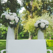 Cérémonie laïque hortensia - Reflets Fleurs mariage
