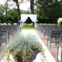 Cérémonie religieuse daie houppah hortensia - Reflets Fleurs mariage