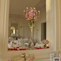 Chandelier livre d'or - Reflets Fleurs mariage