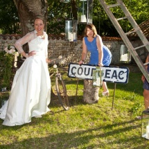 Mariage Courgeac Reflets Fleurs vintage photobooth