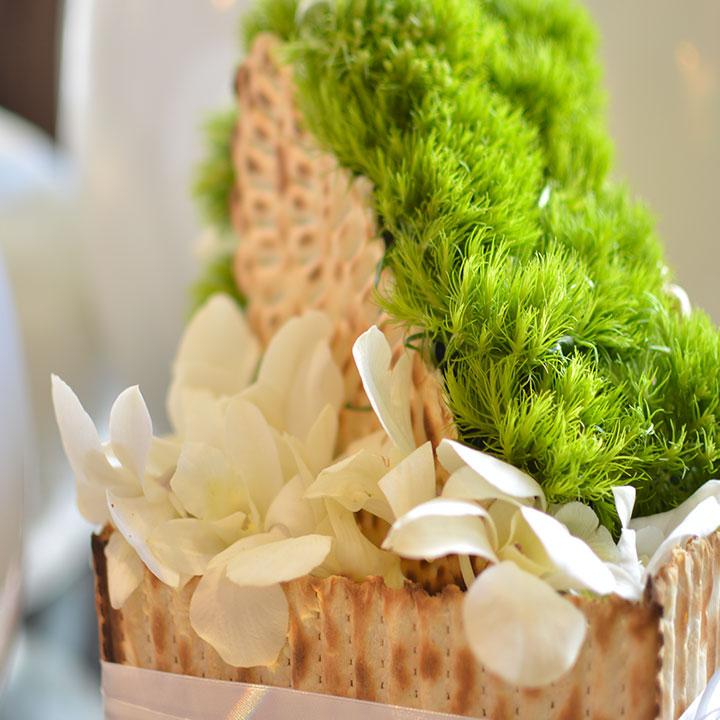 le matzot design création originale signée reflets fleurs livraison  dans la journée