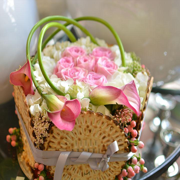mazot tout en rose création originale signée reflets fleurs