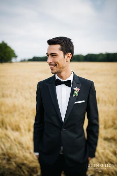 un mariage romantique, boutonnière pour homme