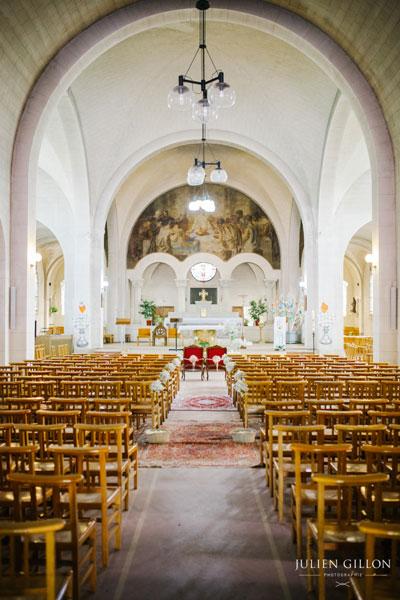 un mariage romantique, église de saint maur