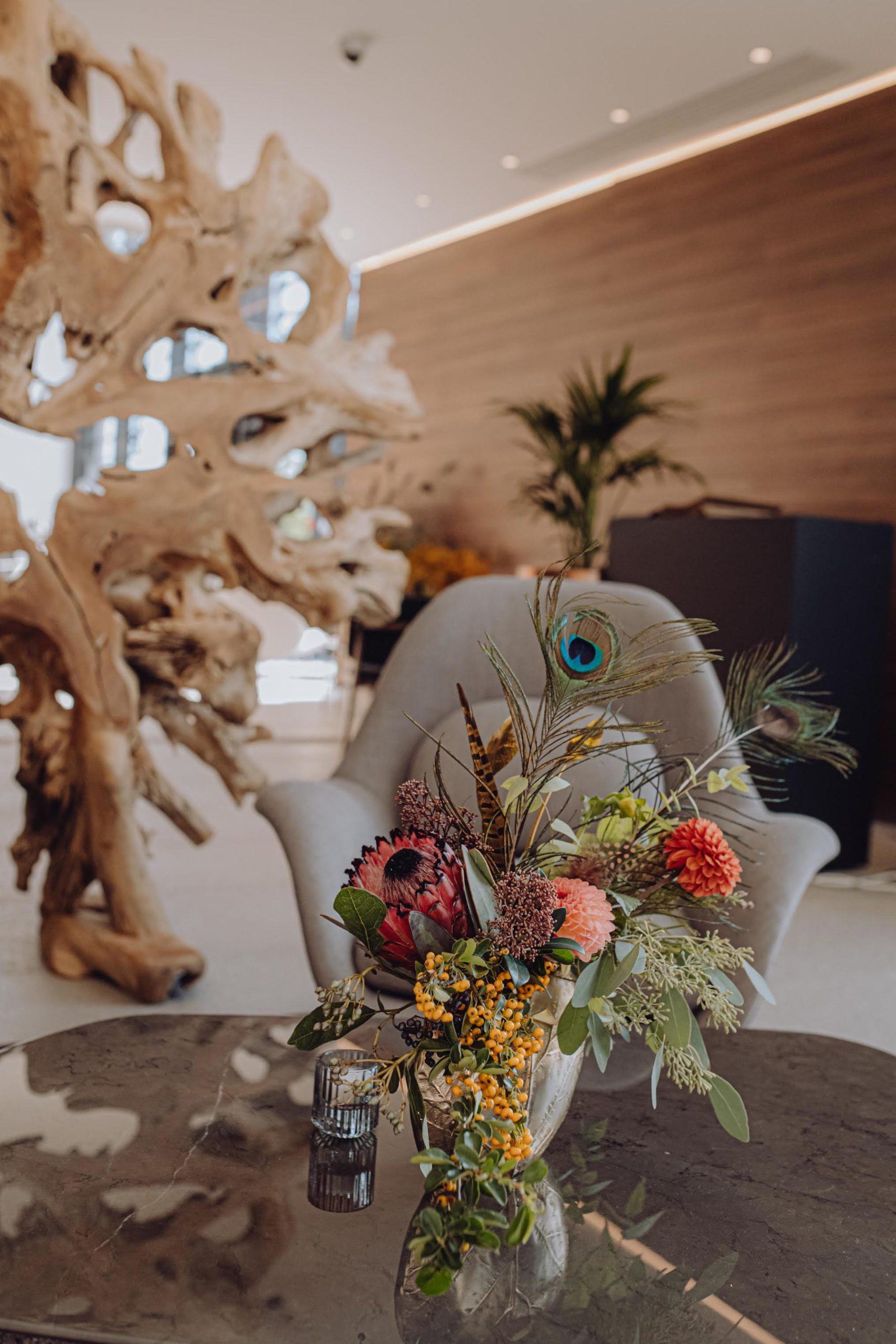 Reflets Fleurs - Scénographe floral - Fleuriste évènements Paris - Inauguration Hotel Les oiseaux Paris