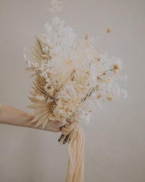 bouquet fleurs séchées pampa