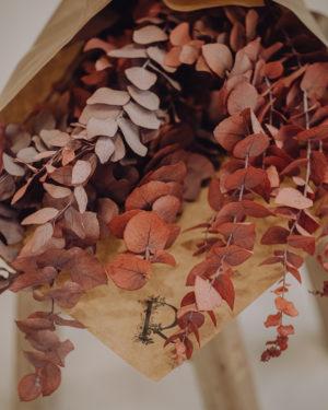 décoration fleurs séchées eucalyptus