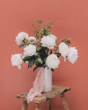 livraison bouquet de pivoine blanche